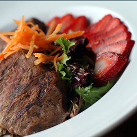 Blackened Steak and Strawberry Salad