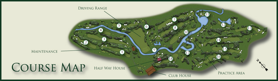 Calgary Elks Course Map